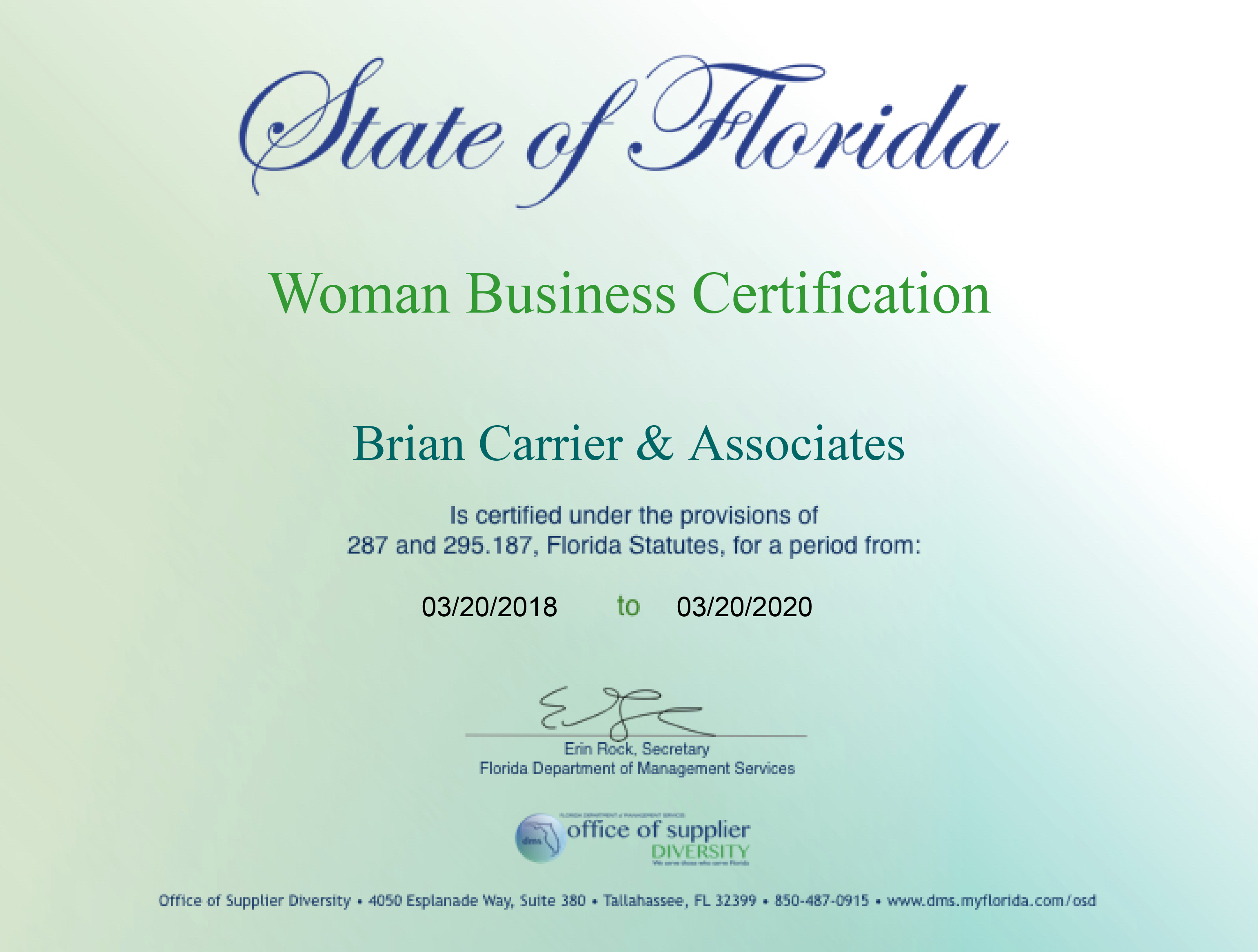 Minority Business Certification